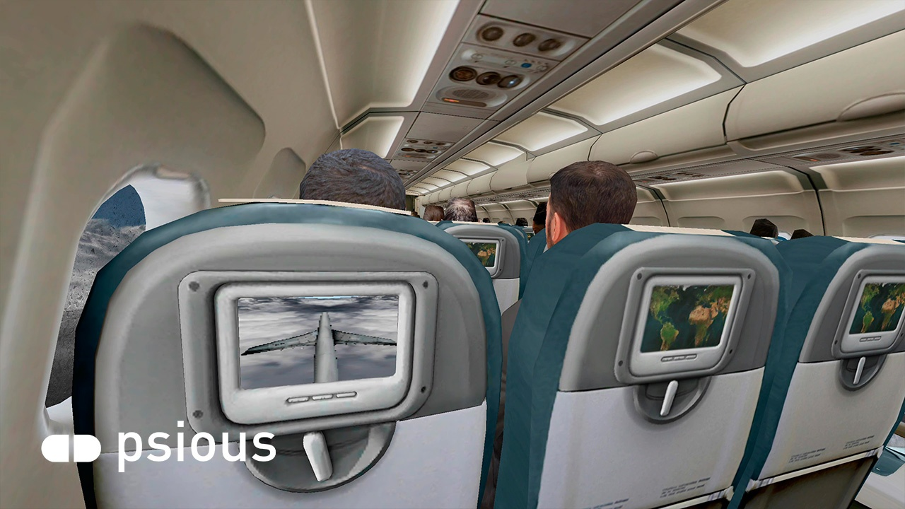 Airplane Virtual Reality Environment Aerophobia