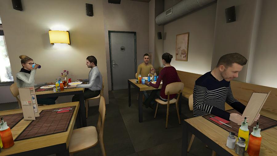 Restaurant Virtual Reality environment