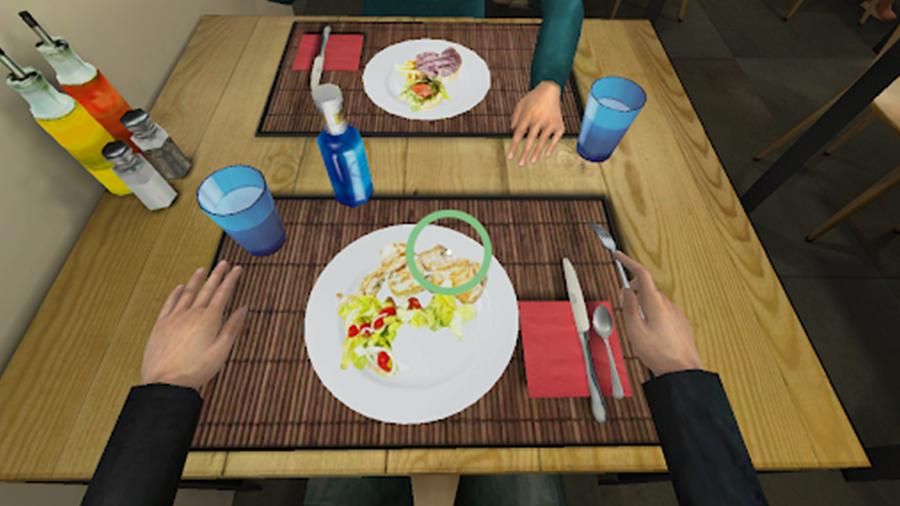 Restaurant Virtual Reality environment food