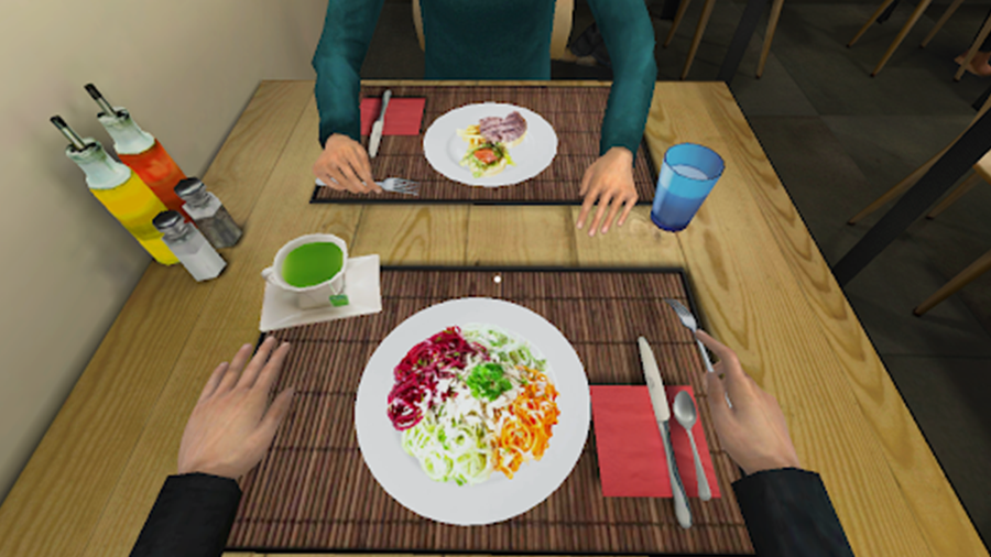Restaurant Virtual Reality environment food